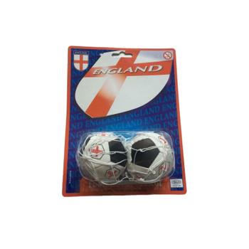 Pair of England Football Car Mascot Balls - World Cup