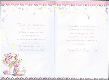 80th Birthday Wishes For You Mum Celebrity Style Card