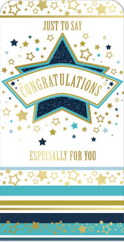 Just To Say Congratulations Star Design Luxury Gift Money Wallet Card