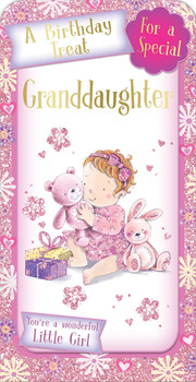 A Birthday Treat For a Special Granddaughter Luxury Gift Money Wallet Card