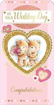 Congratulation On Your Wedding Day Heart Design Luxury Gift Money Wallet Card