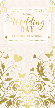 Congratulation On Your Wedding Day Luxury Gift Money Wallet Card