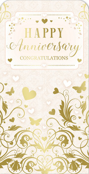 Congratulation On Your Anniversary Luxury Gift Money Wallet Card