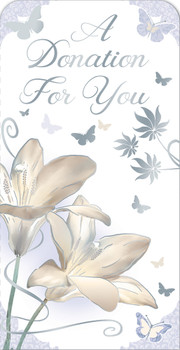 A Sympathy Donation For You Open Luxury Gift Money Wallet Card