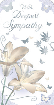 With Deepest Sympathy Open Luxury Gift Money Wallet Card