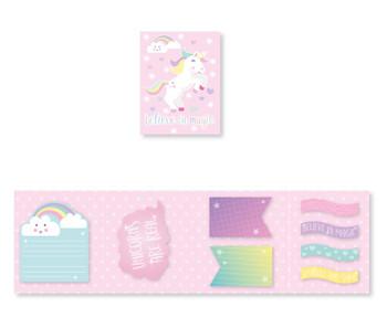 Unicorn Design Die Cut Note Set