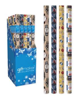 3m Classic Male Design Gift Wrap Roll