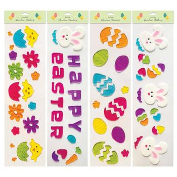 Long Gel Easter Window Stickers