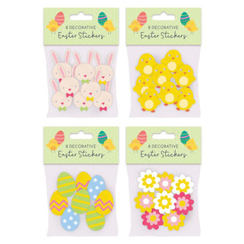 Pack of 8 Felt Decorative Easter Stickers
