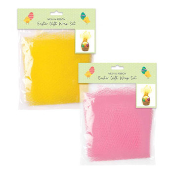 Easter Mesh and Ribbon Gift Wrap Set