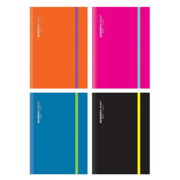 2021-2022 A4 Day a Page Academic Diary with Band
