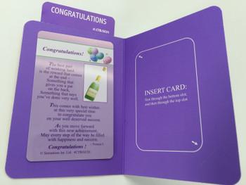 Congratulations... (Sentimental Keepsake Wallet / Purse Card)...