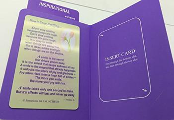 Don`t Stop Smilling...Get Well Soon...Wallet Card (Sentimental Keepsake Wallet / Purse Card)