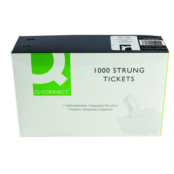 Strung Ticket 37x24mm White (Pack of 1000) KF01618
