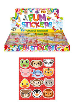 120 x Animal Design Stickers Sheets