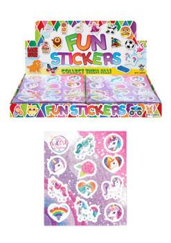 120 x Unicorn Design Stickers Sheets