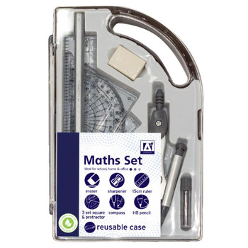 9 Piece Maths Geometry Set