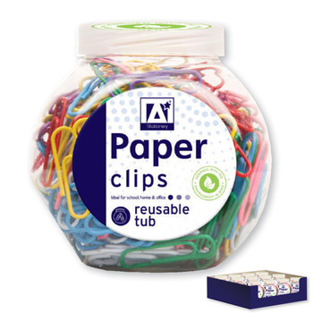 Tub of Paper Clips