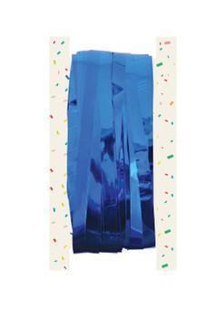 Blue Foil Door Curtain (92x244cm) {DC}