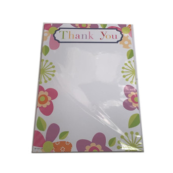 Pack of 20 Floral Thank You Sheets and Envelopes