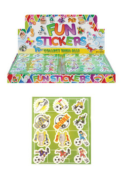 Pack of 120 Football Sticker Sheets 10cm x 11.5cm