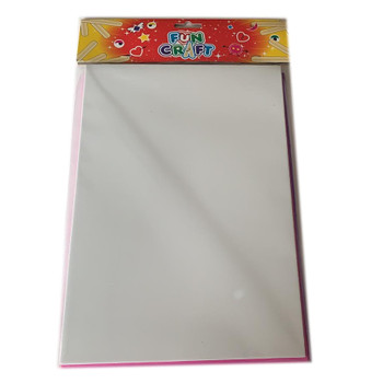 Pack of 4 Assorted Colour Craft Foam A4 Sheets