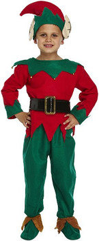 Child's Christmas Elf Fancy Dress Costume 4-6 Year Olds