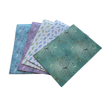 Pack of 10 Luxury Soft Touch Butterfly and Feather Design Gift Wrap Sheets