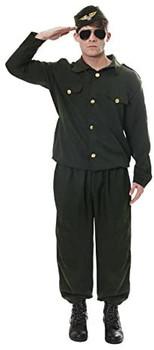 Adult Army Combat Man Fancy Dress Costume