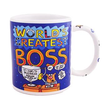World's Greatest Boss Novelty Coffee/Tea Mug