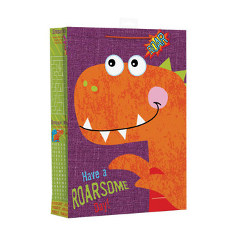Dino Activity Design Extra Large Gift Bag