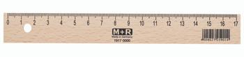 17cm Natural Beechwood Ruler With metal Insert