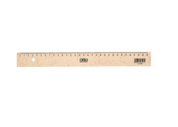 30cm Natural Beechwood Ruler With metal Insert