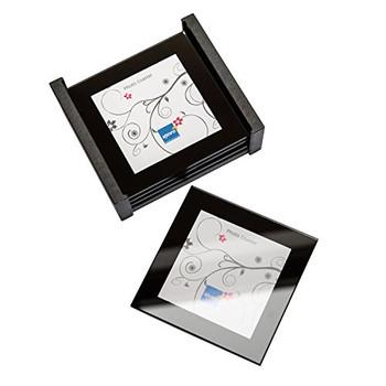 Coaster Set 4 Coasters in a holder Mini Photo Frames Picture Album