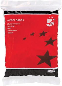 5 Star Rubber Bands No32 76x3mm 454g Bag