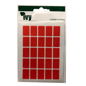 Pack of 175 12 x 18 Red Self Adhesive Labels