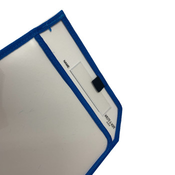 Blue Edge Clear Dry Erase Write and Wipe Reusable Sleeve Pocket