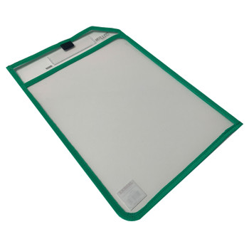 Green Edge Clear Dry Erase Write and Wipe Reusable Sleeve Pocket