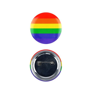 4cm Rainbow Pride Badge
