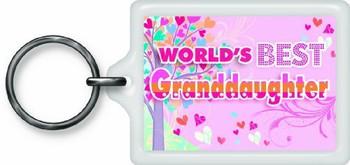 World's Best Granddaughter Sentimental Keyring