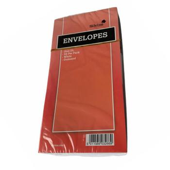 Pack of 50 Silvine DL White Gummed Envelopes