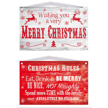 Christmas Wooden Hanging Sign Plaque