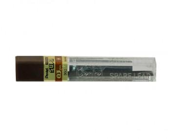 Tube of 12 Pentel 0.3mm H Hi Polymer Super Pencil Leads