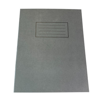 """Pack of 50 Janrax 9x7"""" Grey 80 Pages Feint and Ruled Exercise Books"""