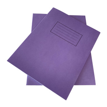 """Pack of 50 Janrax 9x7"""" Purple 80 Pages Feint and Ruled Exercise Books"""