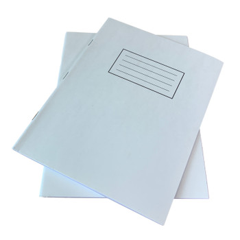 """Pack of 50 Janrax 9x7"""" White 80 Pages Feint and Ruled Exercise Books"""