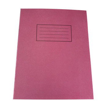 """Pack of 50 Janrax 9x7"""" Pink 80 Pages Feint and Ruled Exercise Books"""