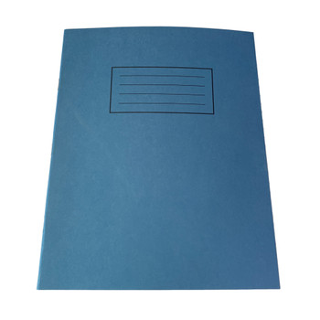 """Pack of 50 Janrax 9x7"""" Blue 80 Pages Feint and Ruled Exercise Books"""