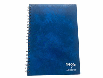 A4 Twinwire A-Z Index Notebook Cloud Cover Design {DC}