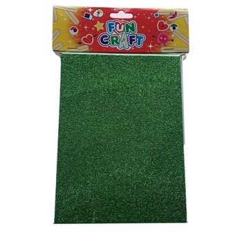 Pack of 4 Green Glitter A5 Foam Sheets